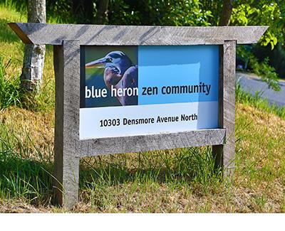 Blue Heron address sign