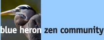 Blue Heron Zen Community Logo